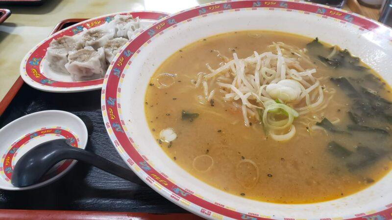 中華食堂ドラゴンⅭセット(ラーメン味噌味・シュウマイ)
